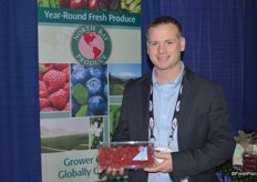 Nick Osmulski with North Bay Produce showing raspberries.