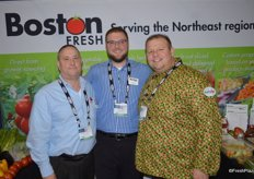 Tony Pelliccio, Charlie Nano and Richard Butera with Boston Fresh, a member of the Maglio Companies family.