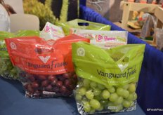 Grapes from Peru, labeled under the Vanguard Fresh brand.