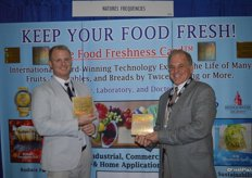 RJ Hassler and his father Rick Hassler show the newest technology when it comes to freshness. The Food Freshness Card keeps produce fresh longer and cuts spoilage in half. Just put it in your refrigerator!