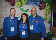 Colin O'Brien, Tina Delmonte and Joe Rosa with the International Fruit Company.