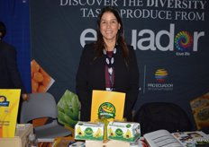 Marianela Ubilla with Agzulasa promotes bananas from Ecuador and is looking to expand business in the US.