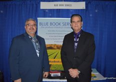 Carlos Sanchez and Frank Sanchez with Blue Book Services had a busy day showing the Blue Book System to show attendees.