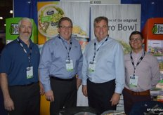 Todd Root, David O'Toole, Jeff Herdeg and Patrick Larkin with Ready Pac Foods.