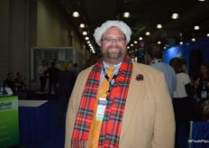 John Toner with United Fresh is prepared for the cold New York weather.