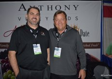 Rob Spinelli and DJ Ryan with Anthony Vineyards are promoting dates at the show, but the company also offers grapes.