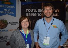 Tami Long and Hunter Gibbs with Nash Produce