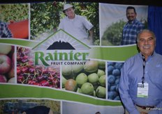 Mike Accetturo with Rainier Fruit