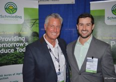 Scott McDulin with Schmieding Produce and Cole Hubka with the agribusiness division of Insurance Office of America.