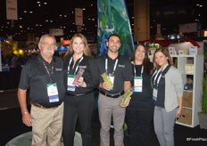 Jim House, Laura Brunson, Paul Mortanian, Gabriela Castro and Sana Kear with Gourmet Trading, proudly showing purple and green asparagus.
