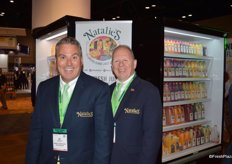 Bil Martinelli and Michael D'Amato with Natalie's Orchid Island Juice Company.