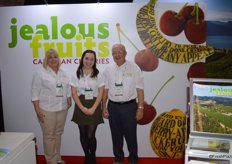 Julie McLachlan, Erin Grafe and Gerald Green with Jealous Fruits were sampling frozen cherries in the booth. These are available year-round.