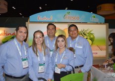 The team of Fresco Produce: Antonio Espinosa, Mayra Romero, Alejandro Ramos, Rebecca Garcia and Miguel Angel. Limes, coconuts and pineapples are the company's main products.