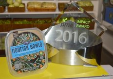 Mann Packing won the PMA Impact Award for Excellence in Packaging with its Nourish Bowls product.