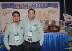 Honorio Aguilar and Eric Frasse with I Love Produce