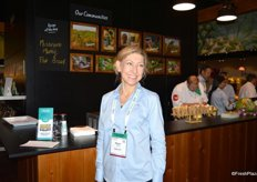 Marion Tabard in the new Fyffes booth.