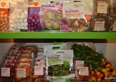 Featured products from Frieda's, including the new watermelon radishes.