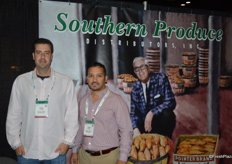 Kelley Precythe and Carlos Quintanilla of Southern Produce Distributors, a sweet potato and squash grower-shipper in North Carolina.