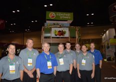 All smiles in the booth of Domex Superfresh Growers.