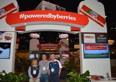 Sandy Jurach, Philip Nathan and Serjio Sanchez with California Giant berry farms.
