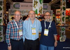 Rudi Coosemans, Daniel Coosemans and Brian Young with Coosemans Worldwide.