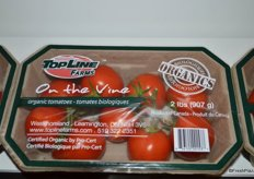 A new product from Westmoreland Sales-TopLine Farms: organic tomatoes on the vine.