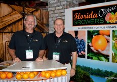Justin Martin and Al Finch with Florida Classic Growers.