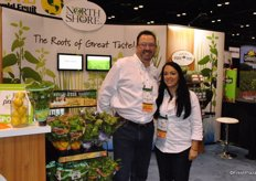 North Shore sales & marketing brought many of their herbs. In the photo Greg Mooney and Micki Dirtzu.