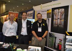 Dave Rodden and Shane Pitman, Advanced Ripening Solutions, with Chris Maat (Interko) in the middle.