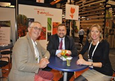 Gert Mulder from Frugiventa, Jim Prevor and Linda Bloomfield promoting the Amsterdam Produce Show