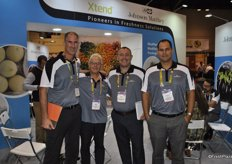 The team of Johnson Matthey promoting the Xtend packaging