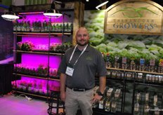 Charles Griffen, Shanandoan Growers. The company started LED lighting in a hard plastic greenhouse.