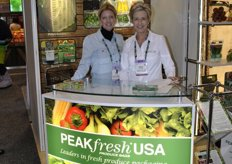 Sally Anderson and Sandra Stevenson from Peakfresh USA