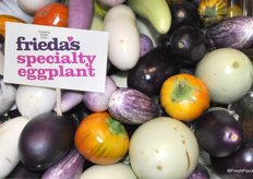 The Purple Pride eggplants are in the Frieda's Specialty Produce assortment.