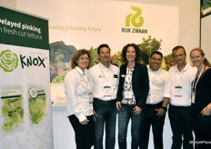The Rijk Zwaan team presented of course the KNOX, delaying pinking in fresh cut lettuce.