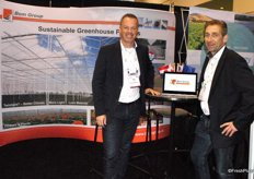 Mike Vermeij and Ton Versteeg, BOM Group. Their greenhouses are doing well in the North American market.