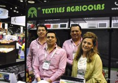 That's what we call a family company! Enrique, Robby and Roberto Munoz and Miriam Nova of Textiles Agrocolas.