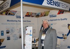 Christopher Ferrandi of Sensitech, providing temperature sensors, analysis and tracking.