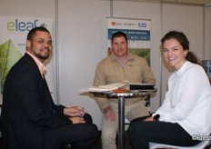 Ruben Mandean of the Land Bank with Juan Fourie and Erna du Plessis of Renlyn.