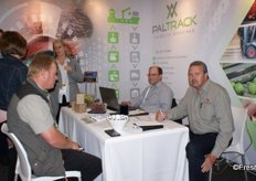 Robert Venema of Rosaly Farms with Raymond de Kock of Paltrack and Henrik Albert of Rosaly Farms.