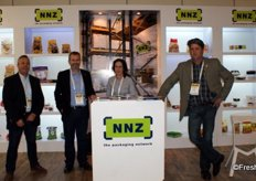 Mark Kröber of Coldpack, Jacques Coetzee (export manager at NNZ), Anita Coetzee and AC Koch, both of NNZ too.