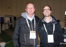 JP van Tubbergh of FVC International and Travis Coppin of Food Lover's Market.