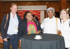 Zac Bard, MD of Westfalia, with Kelly Machumela, Veronica Ledwaba and Candice van Veijeren, all also Westfalia.