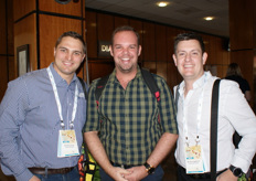 Adrihan Kruger of Marco market agents at the Johannesburg market, Jurie Gouws of The Fruit Farm Group and Sean Engelbrecht of The Grow Group.