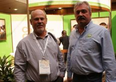 Hennie Bischoff of Wegro Farming in Hluhluwe with Jacques Marais of the RSA Group.