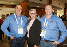 Martin du Plooy of CHEP SA with Annelize van Niekerk and Gerhard van der Berg.