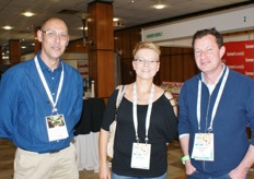 Craig Adamson (Evergreens), Anli Nezar (Direct Produce Marketing) and Jimmy Pereira (Evergreens).