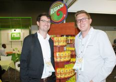 Jack Luft of InspiraFarms with Wesley Browne, marketing manager at Rugani.