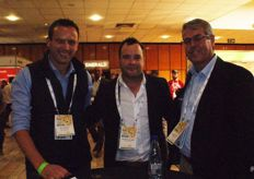 Johan Brink (national marketing manager of Tru-Cape), Nicholis Cilliers (Star South) and James Lonsdale, national fresh produce manager of Spar.