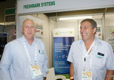 Dave Larkan and Richard Pilkington of Freshmark Systems, the software used at most SA municipal markets.